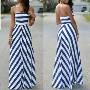 Flowy Strapless Maxi Dress